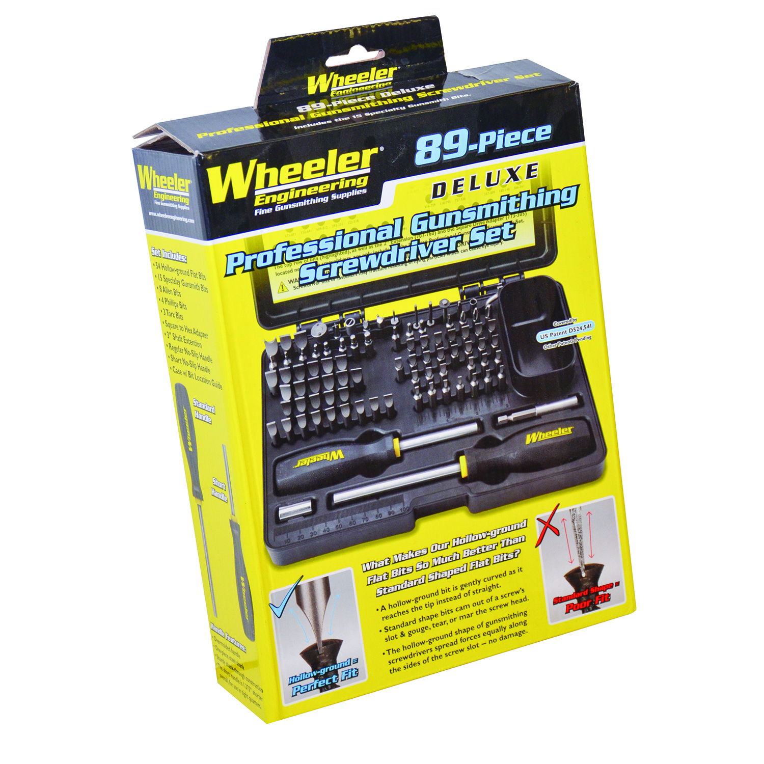 wheeler 89 piece deluxe gunsmithing screwdriver set black yellow ebay. Black Bedroom Furniture Sets. Home Design Ideas