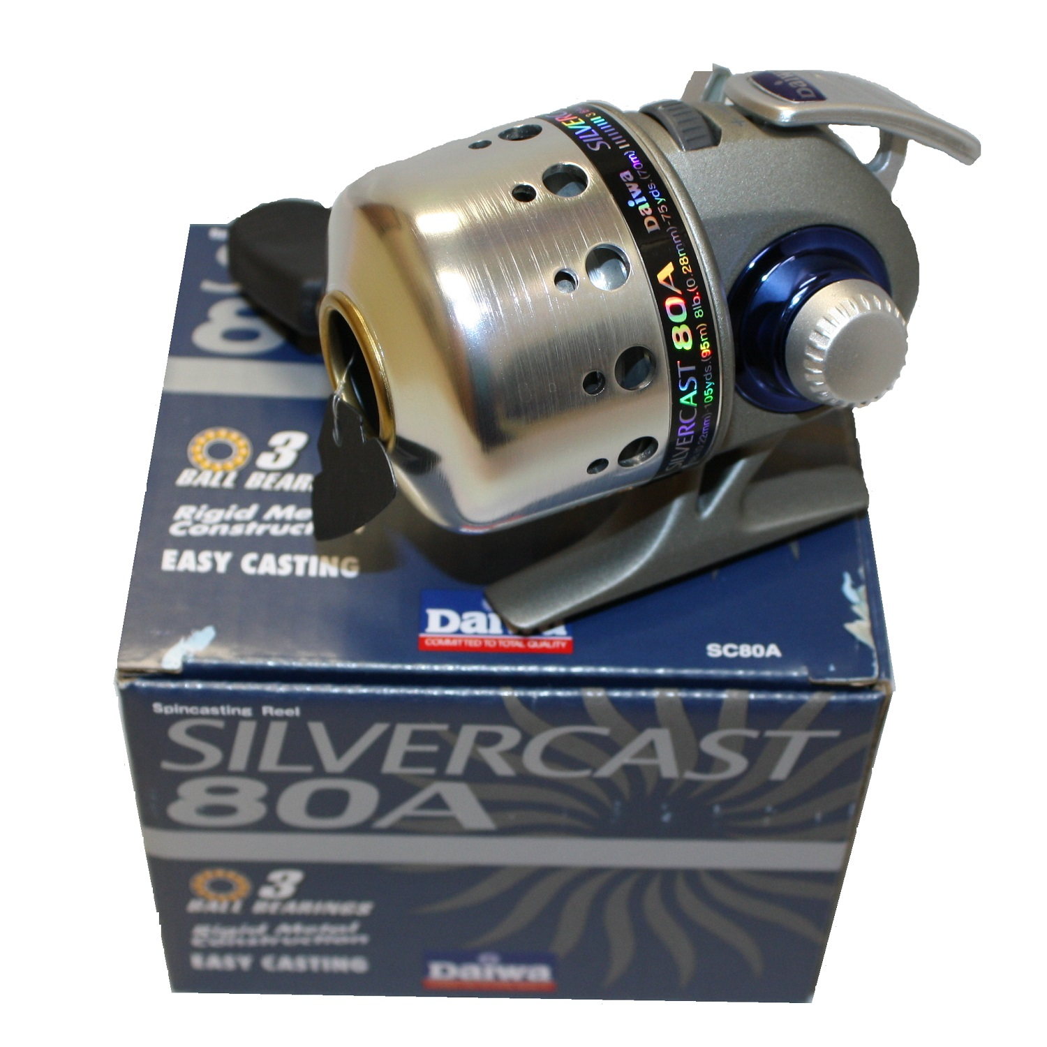 SC80A Daiwa Silvercast-A 80A 4.3:1 Spincast Left//Right Hand Fishing Reel