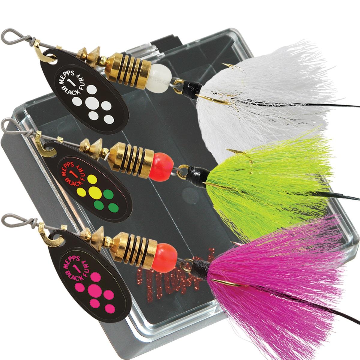 Mepps 500676 Basser Kit Dressed #3 Aglia Assortment